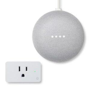 picture of Google Nest Mini (2nd Gen) Google Assistant + Smart Plug Bundle