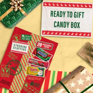 picture of M and M'S, SNICKERS, TWIX Assorted Candy Christmas Santa Box Sale