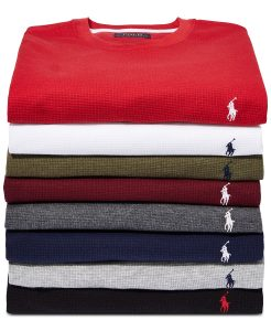 picture of Polo Ralph Lauren Men's Waffle-Knit Thermal Pajama Shirt Sale