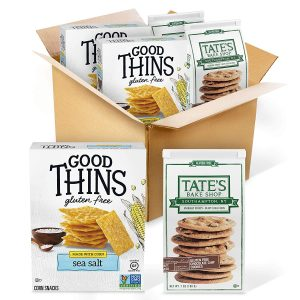 picture of Tate's Cookies Gluten Free Good Thins Crackers & Tate's Cookies 4-Count Sale