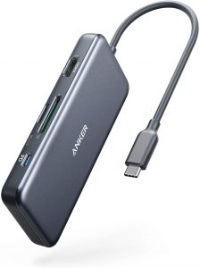 picture of Anker 7-in-1 USB C to HDMI Hub w/ 100W PD, microSD/SD Card Reader + 2x USB 3.0 Sale