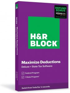 picture of H&R Block 2020 Tax Software w/ Refund Bonus: Deluxe + State Sale