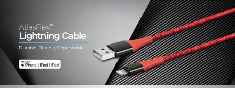 picture of Monoprice AtlasFlex MFi Certified Lightning to USB Cable 4pk Sale