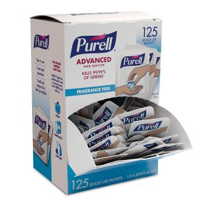 picture of PURELL Singles Advanced Hand Sanitizer Gel Packets, 125ct, Sale