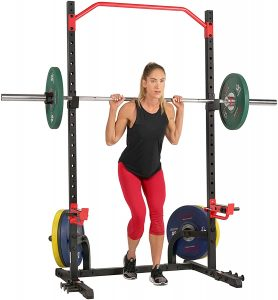 picture of Sunny Health & Fitness Power Zone Squat Stand Rack Power Cage