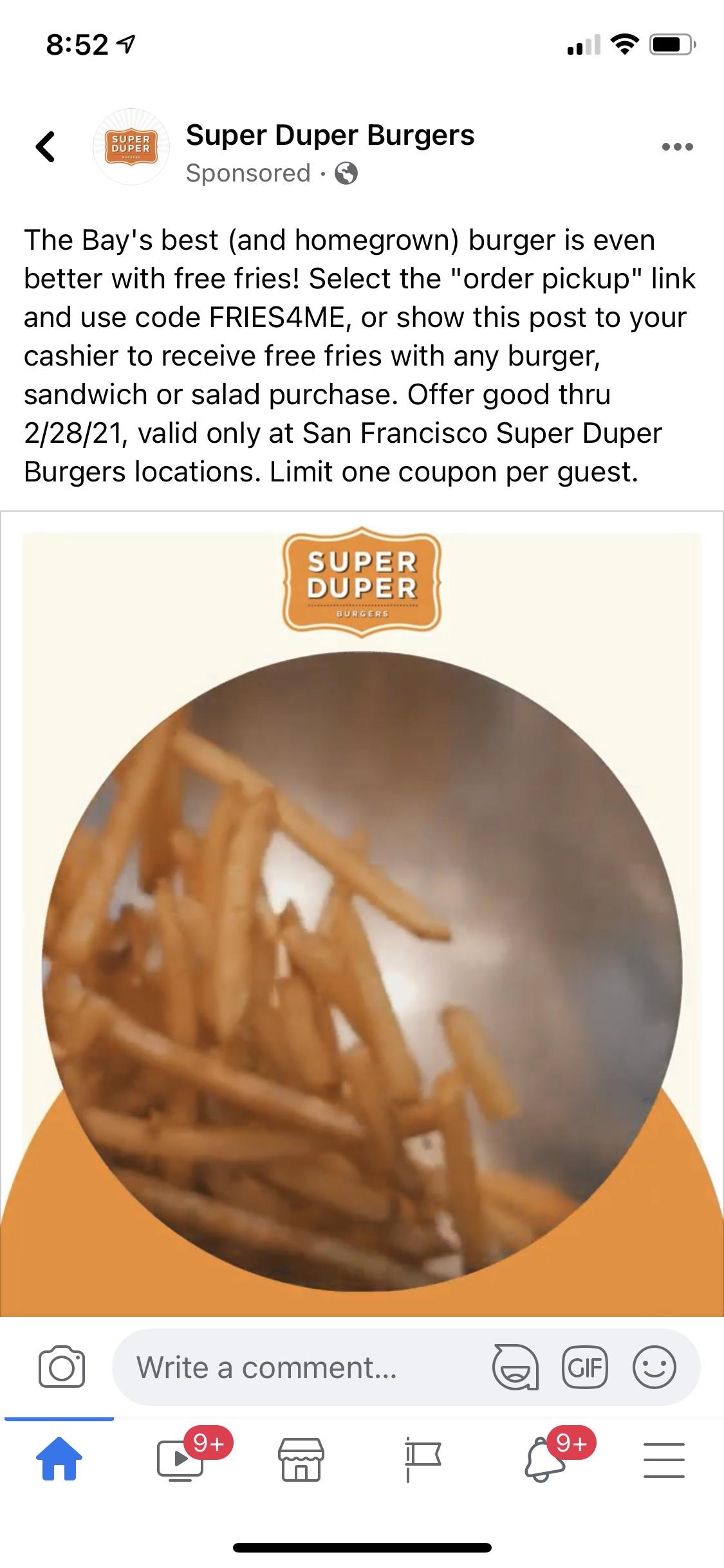 Super Duper Burgers Coupon