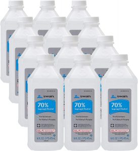 picture of Swan 70% Isopropyl Alcohol 12-pk Sale