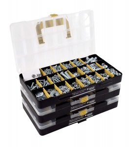 picture of Expiring Today: JACKSON PALMER Hardware Assortment Kit with Screws, Nuts, Bolts & Washers