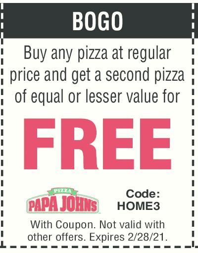 Papa Johns Pizza Coupon