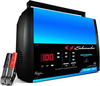 picture of Schumacher 15-Amp 6V/12V Fully Automatic Smart Battery Charger Maintainer Sale
