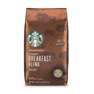 picture of Starbucks Medium Roast Ground Coffee — Breakfast Blend — 100% Arabica — 1 bag (20 oz.) Sale