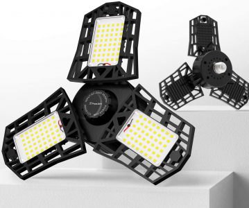 picture of Expiring Today: Freelicht 60W 6500K LED Garage Light, 2-Pack, Sale