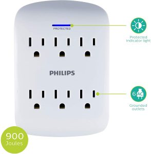 picture of Philips 6-Outlet Surge Protector Sale