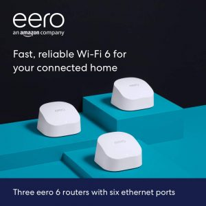 picture of eero 6 Dual-Band Wi-Fi 6 Mesh Wifi System, 3-Pack, Sale