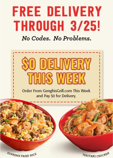 Genghis Grill Coupon