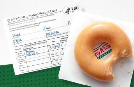 picture of Free Krispy Kreme Every Day for showing Covid Vaccine Card