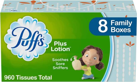 picture of Puffs Plus Lotion Facial Tissues, 8 Family Boxes, Sale