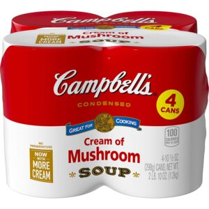 picture of Campbell's Condensed Cream of Mushroom Soup, 10.5 oz. Cans (Pack of 4)