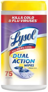 picture of Lysol Dual Action, Disinfecting Wipes, Citrus, 75 Ct