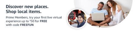 picture of Prime Members: Free Amazon Explore Virtual Live Experiences