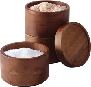 picture of Rachael Ray Pantryware Wood Salt Cellar Stacking Set Sale