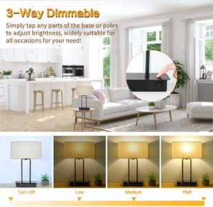 picture of 3-Way Dimmable Touch Control Table Lamp Sale