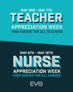 picture of Expiring Today: EVO Entertainment Cinemas: Free Movies for All Teachers