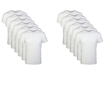 picture of Gildan Men's White Crew T-Shirt 6-pk Sale