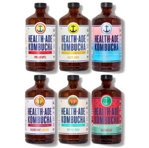picture of Health-Ade Kombucha Probiotic Drink, 6 Pack Sampler Sale