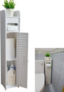 picture of Aojezor Small Bathroom Storage Corner Vanity Cabinet