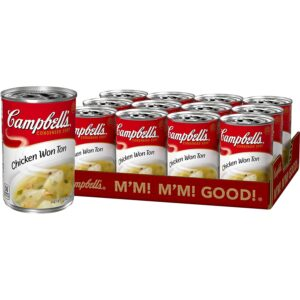 picture of Campbell's Condensed Chicken Wonton Soup, 10.5 oz. Cans (Pack of 12)