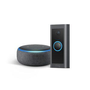 picture of Ring Video Doorbell Wired Bundle w/ Echo Dot, Gen 3, Sale