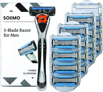 picture of Expiring Today: Amazon Brand - Solimo 5-Blade MotionSphere Razor with 16 Cartridges