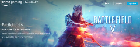 picture of Prime Gaming: Battlefield V for Free (PC Digital Download)