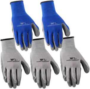picture of 5-Pair Pack Wells Lamont Nitrile Work Gloves, Large, Sale