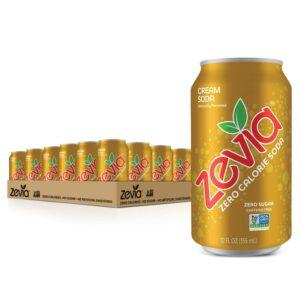 picture of Zevia Zero Calorie Cream Soda, 12oz 24pk, Sale