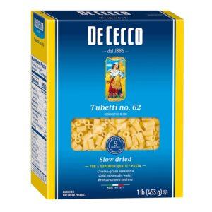 picture of De Cecco Pasta, Tubetti No.62, 5pk, Sale
