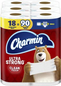 picture of Charmin Ultra Soft Strong Toilet Paper, Mega Roll 18 Count