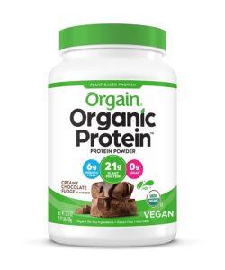 picture of Orgain Organic Plant Based Protein Powder, Creamy Chocolate Fudge, Sale