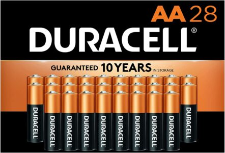 picture of Duracell CopperTop AA Long Lasting Batteries, 28-Pack, Sale