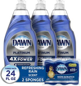 picture of Expiring Today: Dawn Platinum Dish Soap, 3-Pack + 2 Sponges, Sale