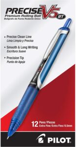 picture of PILOT Precise V5 Stick Liquid Ink Rolling Ball Stick Pens (12) Sale
