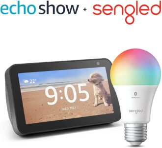 picture of Expiring Today: Echo Show 5 2019 Smart Display with Free Smart Bulb Sale