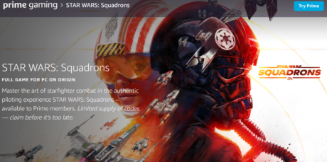 picture of Prime: Free Star Wars Squadrons PC